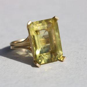 טבעת קוקטייל זהב 14K
