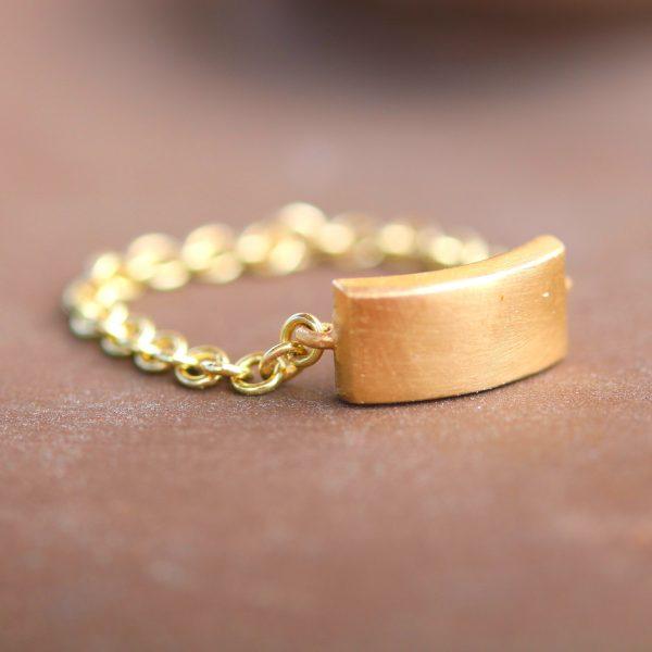 טבעת שרשרת 14K