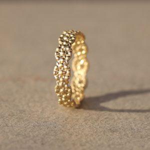 טבעת זהב 14K כוכבית