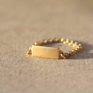 טבעת שרשרת פלטה שטוחה