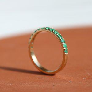 טבעת איטרניטי אמרלד